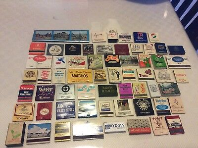 Vintage 61 mixed match book & match boxes