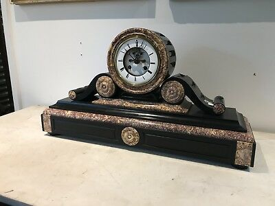 Superb Large French Marble Clock.