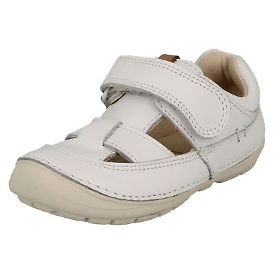 Toddler Infant Girls Clarks Casual Leather Sandals Shoes - 'Softly Meadow'
