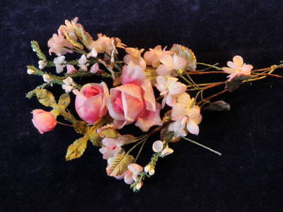 """Vintage Millinery Flower Collection 1/4""""-1 1/2"""" Pink Doll Size  Japan  H2057"""