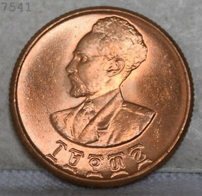 """1945 Ethiopia 10 Cents """"UNC RED"""" *Free S/H After 1st Item*"""