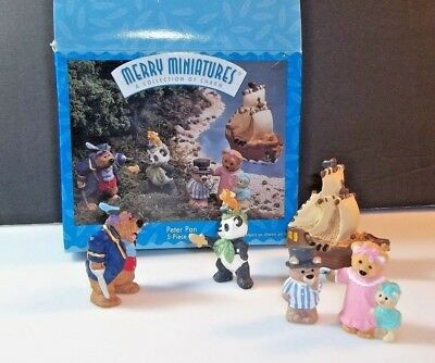 Hallmark vintage Peter Pan Merry Miniatures 1997 5 -Piece Box Set Complete Nice!