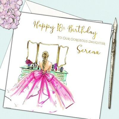 Personalised Birthday Card Female 18th 21st Daughter Granddaughter Sister Friend