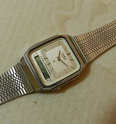 4785bb98fb7 VINTAGE CASIO AQ-210 Dual Time Mens Watch Working - £20.00