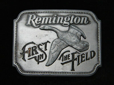 Ra05125 Vintage 1980 **remington First In The Field** Hunting & Firearms Buckle