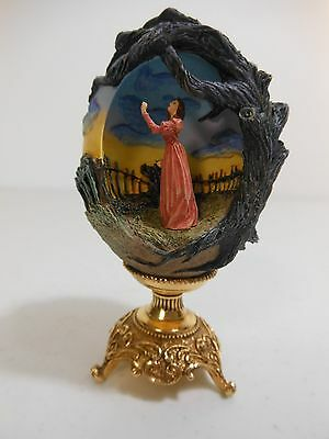 2000 Franklin Mint Gone With The Wind SCARLETT O'HARA VOW Sculpted Egg Figurine