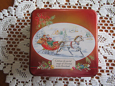 """Vintage Swiss Colony Tins """"CHRISTMAS IN THE HEARTLAND"""" Set of 7 by Helen Endres"""
