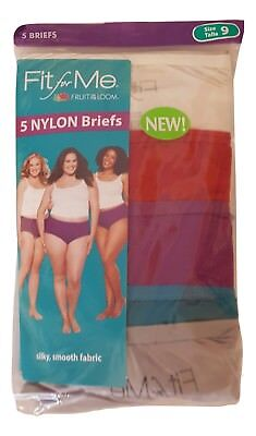 5af127c17f18 Fruit of the Loom Women's Fit for Me Plus Size 100% Nylon Briefs 5 Pack