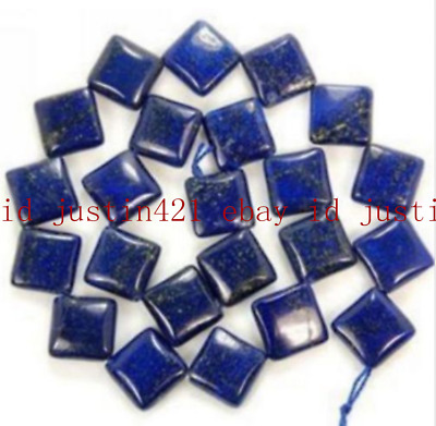 Natural AAA 12mm Egyptian Lapis Lazuli Square Gems Loose Beads 15'' bb63