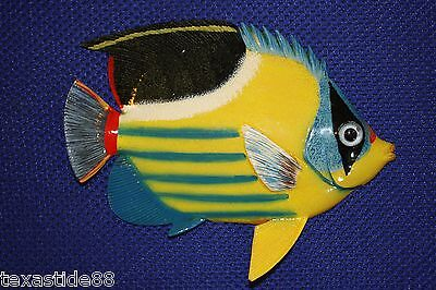 "(1) 6"", Seafood Decor, Yellow, Coral Reef, Tropical Fish Wall Decor, Ocean F-172"
