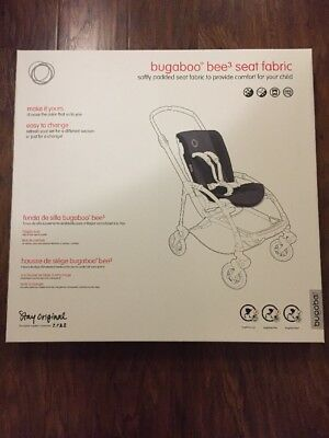 New in Box Bugaboo Bee3 Seat Fabric Black for Stroller added Comfort