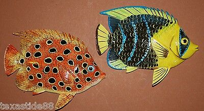"(2) 6"", Ocean Themed Decor, Saltwater, Tropical Fish, Realistic Fish, F-143,148"