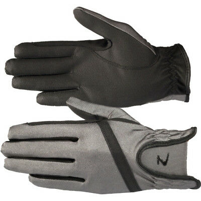 Horze Evelyn Breathable Womens Gloves Everyday Riding Glove - Steel Grey Black