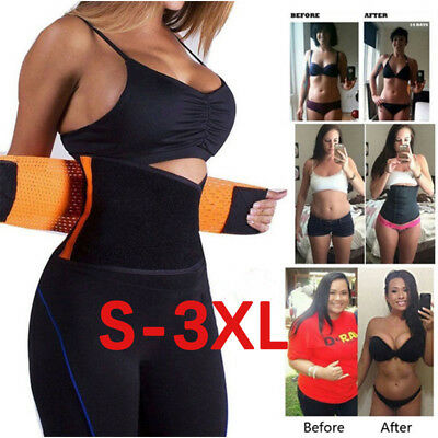 HOT Best Waist Trainer for women Sauna Sweat Thermo Yoga Sport Shaper Belt S-3XL
