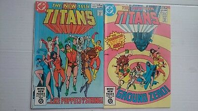 The New Teen Titans # 9 & # 10  Vf/nm  2Nd Appearance Deathstroke Pence 1981 Hot