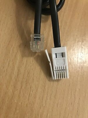 Landline BT Telephone Extension Cable Lead for Fax Phone