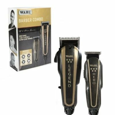 Wahl Professional 5-Star Barber Combo #8180 Legend Clipper and Hero Trimmer