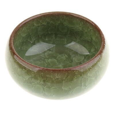 Cracking Ice Painting Writing Brush Washer Small Tray Dish Cup_Green