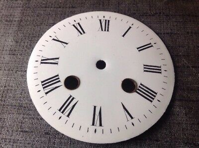 Antique Enamel Clock Dial Face 100mm Currently Hole Diameter 6&9mm 37mm Centre