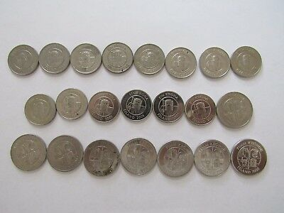 Lot of 22 Different Iceland Coins - 1981 to 2011 - Circulated & BU