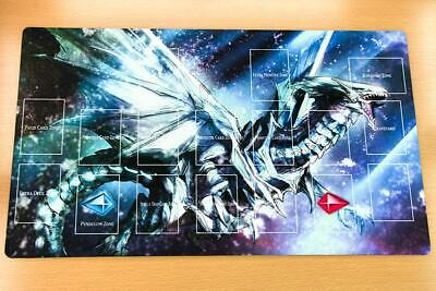 F2605+ Free Mat Bag Yugioh Playmat Blue-Eyes White Dragon Play Mat With Zones