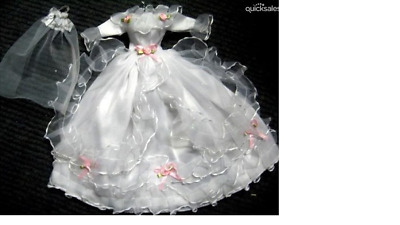Popular Barbie Doll sized Clothes-1 Fashion dress+1 veil-BEST Sell Gift-ON SALE@