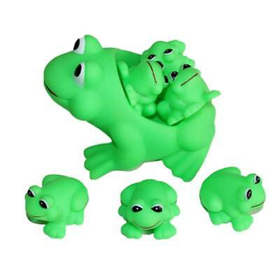 Babies Frog Shaped Vinyl Sounding Bath Toy Pinching Toy Squeeze Toy with Sound