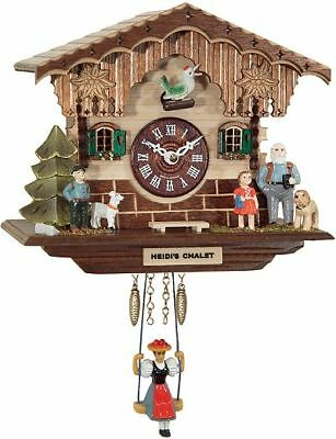 Engstler 01893 Sq Miniature Black Forest Clock with Battery-Powered Quartzwerk
