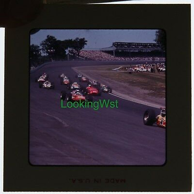 1965 Indianapolis 500 race 2 3/4 x 7mm color slide 5 the pack at speed Bob Vieth