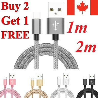 Braided Micro USB Charger Charging Cable for Samsung S7 / Edge S6 S5 LG G4 PS4