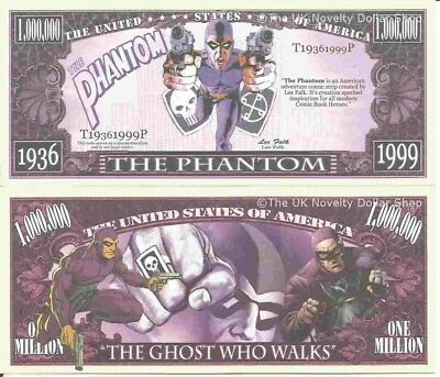 The Phantom The Ghost Who Walks Million Dollar Bills x 4 Comic Book Hero