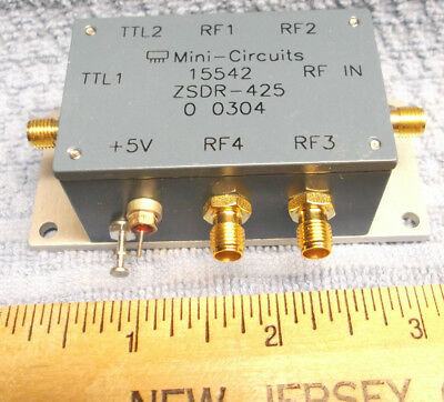 MINI CIRCUITS ZSDR-425 COAXIAL SWITCH SP4T PIN DIODE 2500MHz SMA Used RF