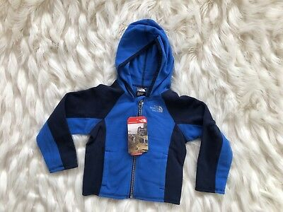 TODDLER BOYS: The North Face Fleece Full-Zip Hoodie Jacket, Blue - Size 3T