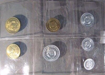 1953-1955 Yugoslavia 7 Coins Set of Issues      ** Free U.S. Shipping **