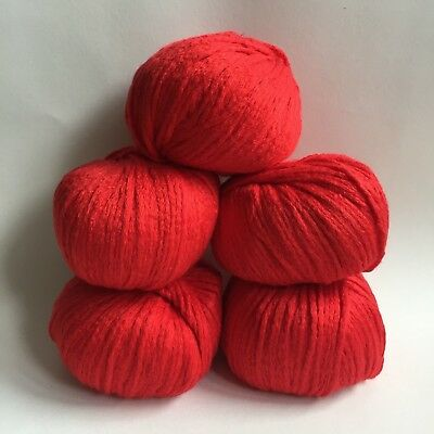 Debbie Bliss ( Pure Bliss)  Sita - 5 x 50g - Mulberry Silk & Cotton - 016 Ruby