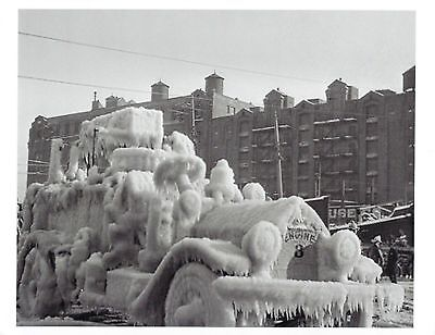 1930 BROOKLYN 7 ALARM FIRE 8X10 PHOTO PICTURE FIREFIGHTING