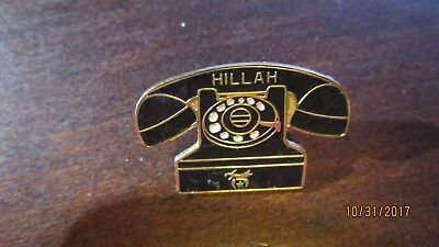 Shriners MASONIC Vintage Old Fashioned Telephone HILLAH '85 Tie Tac Pin hat pin