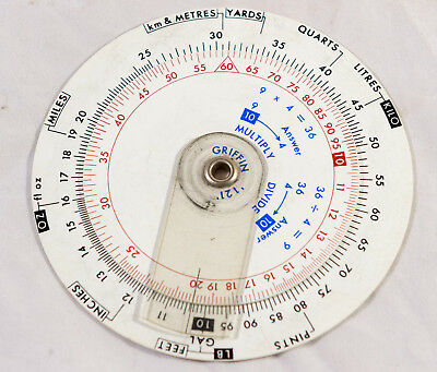 Vintage Griffin '121' Simplified Slide Rule