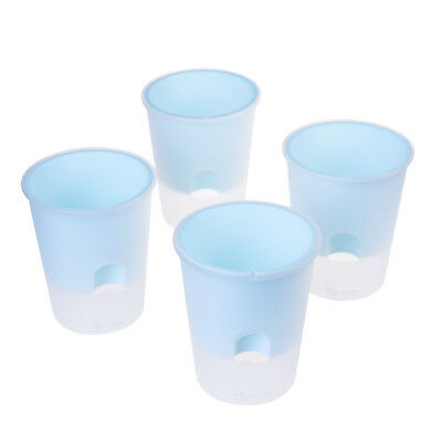 4 PCS Plastic Self Watering Flare Clear Matte Finished Flower Pot For Planter