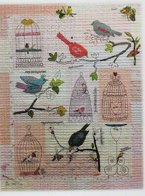 Chirp Chirp - collage style applique & embroidery quilt PATTERN - Laura Heine