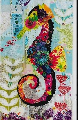 Mini Havana - collage style applique seahorse quilt PATTERN - Laura Heine