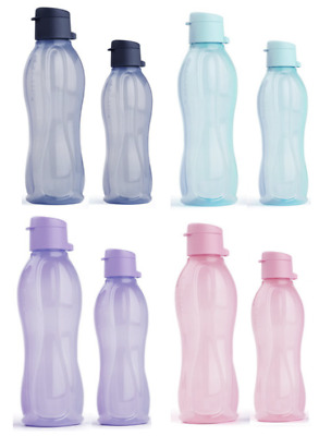 Tupperware 1 LITRE Eco Bottles Flip Top ~ NEW COLOURS ~ Set of 4 or pick 1-2