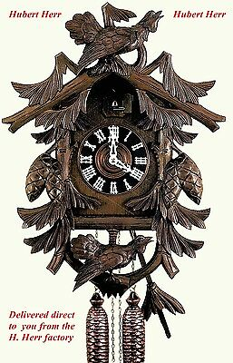 Hubert Herr, new large original style  Black Forest  hand carved cuckoo clock.
