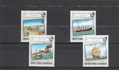 GAMBIA - SG549-552 MNH 1984 250th ANNIV LLOYDS LIST