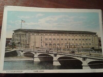 Vintage Postcard Coliseum Building Iowa