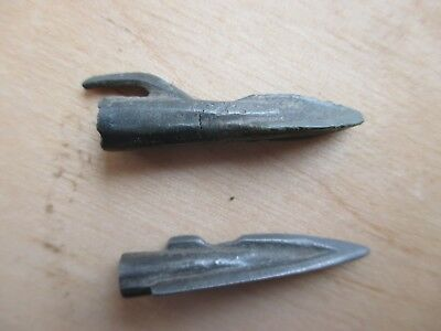 2 Ancient Bronze Scythian Arrowheads 3 - 2 BC