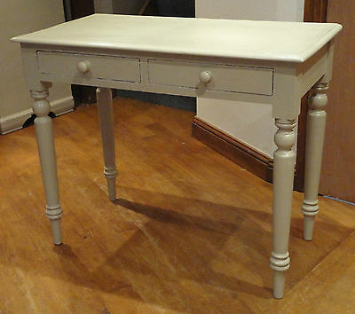 Antique Victorian Annie Sloan Shabby Chic Writing Desk,side Table With Drawers