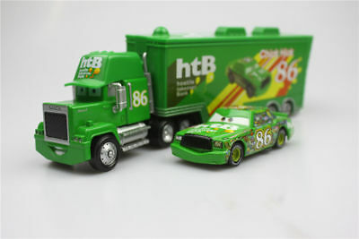 Disney Pixar Cars 86 Chick Hick + RTB Mack Racer Truck Container Diecast Kid Toy