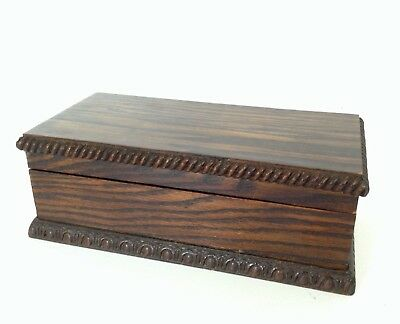Antique Wooden Musical Box With Thorens Movement, Ex Condition