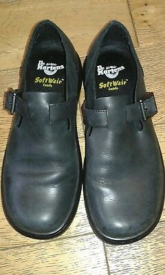 9ba61c4bbca Dr Martens Patricia shoes in oily illusion black leather. Size UK5 38. New